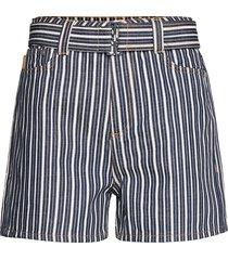 mixed stripe denim shorts denim shorts blå ganni