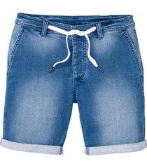 bermuda in felpa effetto jeans slim fit (blu) - rainbow