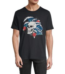 robert graham men's graphic cotton t-shirt - black - size xl