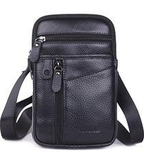 multifunzionale vera pelle 7 pollici telefono borsa vita borsa crossbody borsa for men