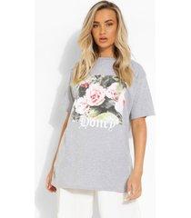 oversized honey t-shirt, grey marl