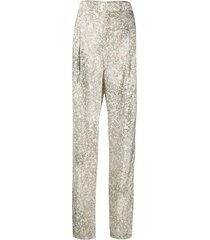 lemaire belted straight leg trousers - neutrals