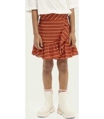 scotch & soda striped wrap skirt