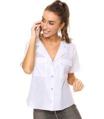 camisa blanca odas lino