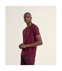 camiseta com listras maquinetadas em algodão peruano | request | bordo | p