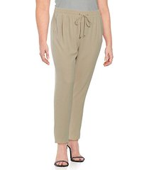 plus staight-leg drawstring dress pants