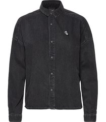 brutus ams blauw colab black denim shirt overhemd met lange mouwen zwart scotch & soda