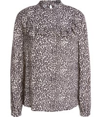 blouse met luipaardprint tigra  dierenprint
