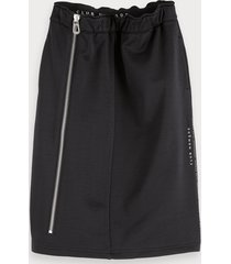 scotch & soda side zipper sweat skirt
