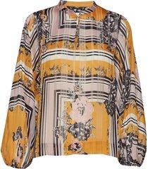 valley ls blouse blouse lange mouwen geel second female