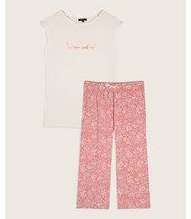 pijama camiseta manga corta screen pantalón capri estampado