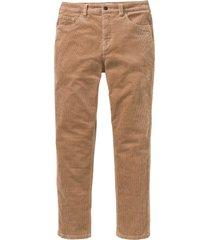 pantaloni di velluto elasticizzato classic fit tapered (marrone) - john baner jeanswear