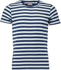 t-shirt donkerblauw gestreept