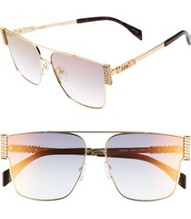 women's moschino 60mm aviator sunglasses -