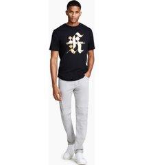 karl lagerfeld paris men's gothic gold foil logo t-shirt