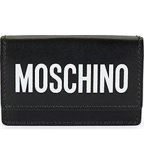 logo tri-fold leather wallet