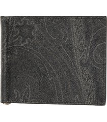 etro wallet with metal clip, made