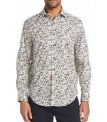 tallia men's slim fit ditsy floral shirt and a free face mask