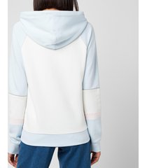 coach women's athletic hoodie - white/blue - m