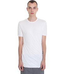 rick owens double ss t-shirt in white cotton