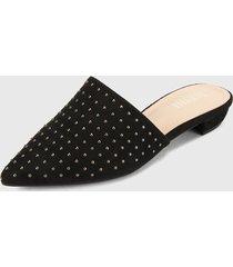slipper negro-plateado pino restrepo