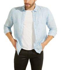 guess men's reef striped shirt