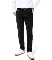 pantalón cleverlander stretch color siete para hombre - negro
