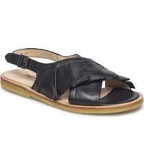 sandals - flat shoes summer shoes flat sandals svart angulus