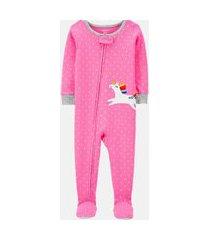 macacão pijama carter's unicornio rosa