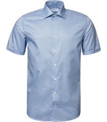 eton fish contemporary fit short sleeve button-up shirt, size 15 in blue at nordstrom