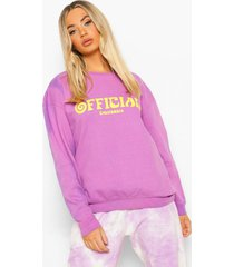 official oversized tie dye sweater, lilac