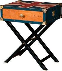 mesa lateral england de madeira com 1 gaveta