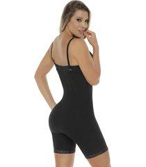 fajas mujer body senos libres/latex/body line control 1027 negro