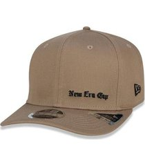bone 9fifty stretch snap black squad cap aba reta snapback kaki new era - masculino