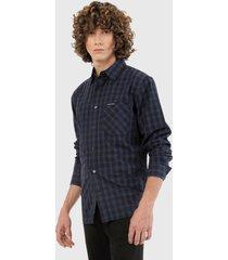 camisa azul-negro calvin klein