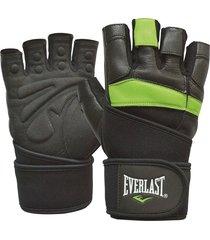 guantes para pesas everlast arrow-negro/verde