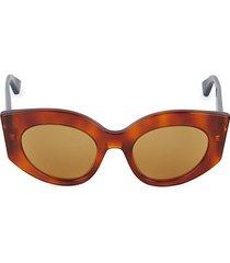 50mm angular cat eye sunglasses