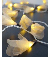 cordão de luz - luz de fada organza dourada luz fixa 127v