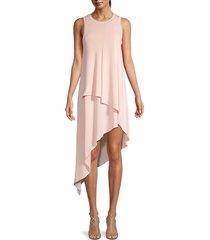 bcbgmaxazria women's asymmetric tank dress - bare pink - size xxs