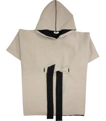 brunello cucinelli sparkling cape in double-knit cashmere and virgin wool with hood