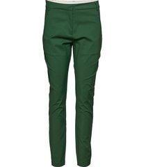 classic long pants - stella byxa med raka ben grön coster copenhagen