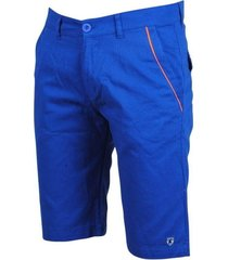 montazinni trendy heren bermuda met oranje details blauw