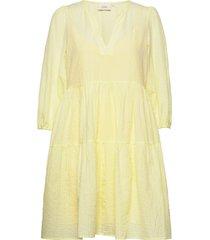 amykb dress korte jurk geel karen by simonsen