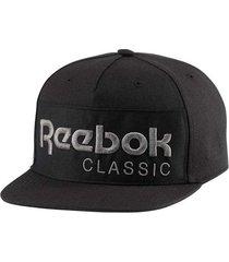 gorra negra reebok cl foundation cap