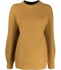 proenza schouler white label rear tie detail knit jumper - yellow