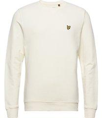 crew neck sweatshirt sweat-shirt trui crème lyle & scott