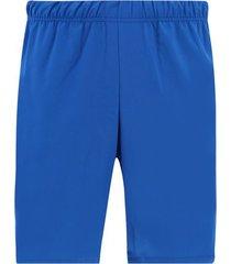 pantaloneta unicolor facol color azul , talla xs