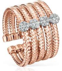 anillo light de oro rosa con diamantes 918635060