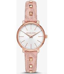 mk orologio pyper mini tonalità oro rosa cinturino con borchie - rosa (rosa) - michael kors