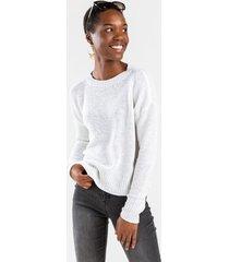 catie crewneck pullover sweater - white